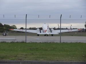 DC3eren var tilbage på sin plads i Roskilde Lufthavn